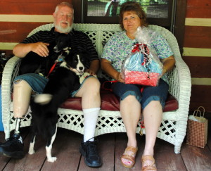 The Stewarts with Oreo