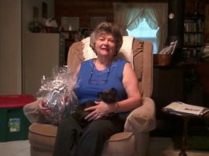 Pet gift basket recipient
